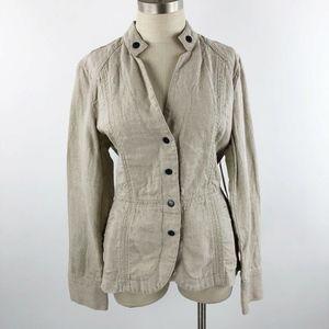 Coldwater Creek Women's Snap Front Linen Jacket